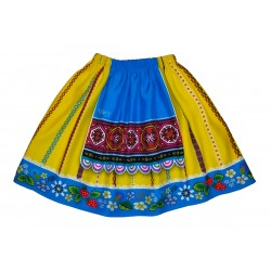 MUHU viscose skirt blue apron